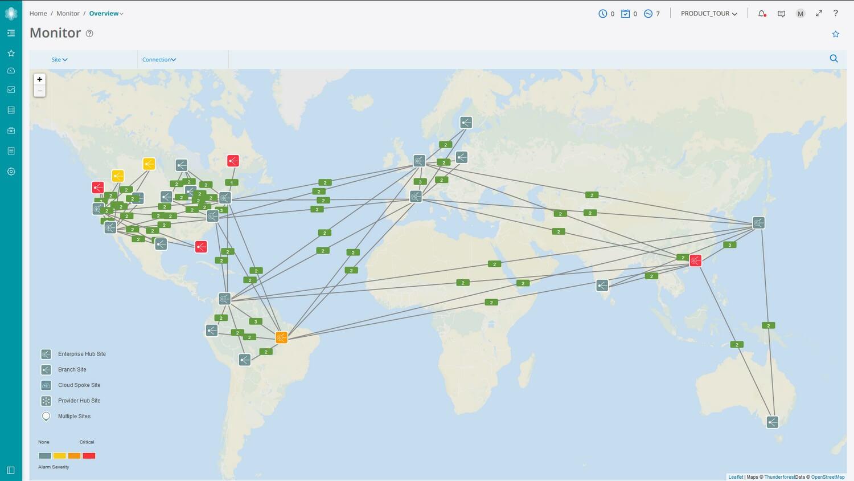 SD Wan Network Topology Map