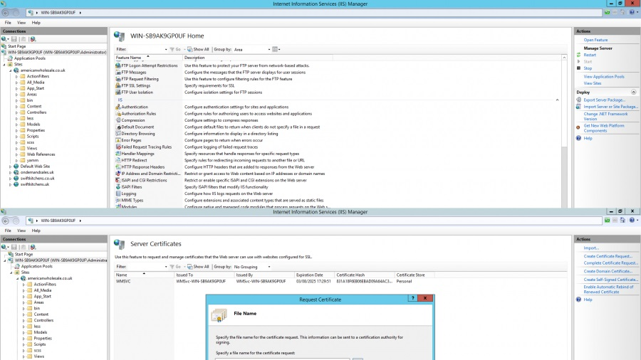 save csr file windows